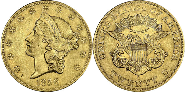 1856-O Liberty Double Eagle