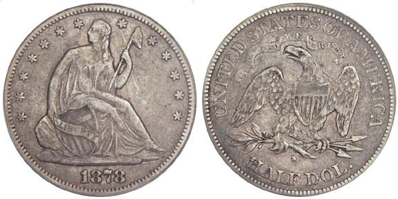 1878-S Seated Liberty Half Dollar