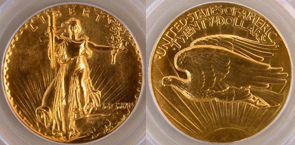 1907 Ultra High Relief Saint Gaudens Double Eagle