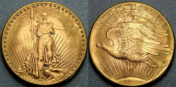 1927-D Saint Gaudens Double Eagle
