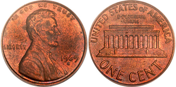 1969-S Doubled Die Lincoln Cent