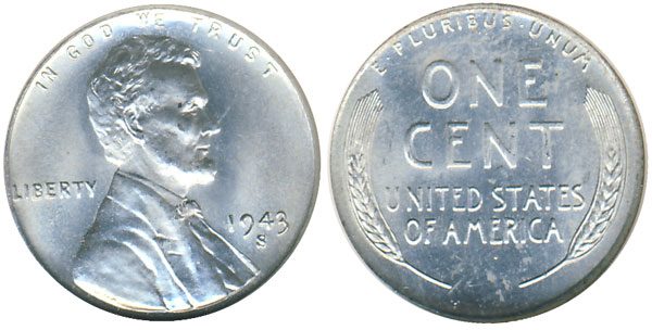1943 Steel Lincoln Cent