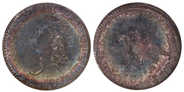 Finest Known 1792 Half Disme