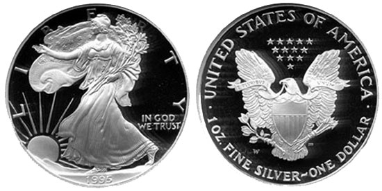 1995-W Proof American Silver Eagle