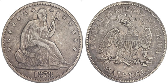 1878-S Seated Liberty Half Dollar
