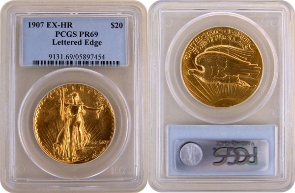 PCGS 1907 Ultra High Relief Double Eagle