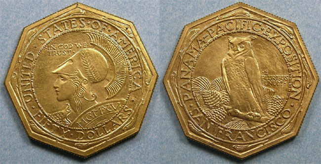 1915 Panama Pacific $50 Gold Piece