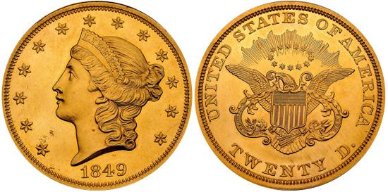 1849 Liberty Double Eagle