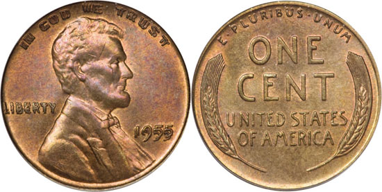 1955 Double Die Lincoln Cent